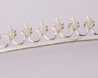 Sterling Silver Gallery Wire Fleur De Lis 1 Foot Package 9.1mm Wide