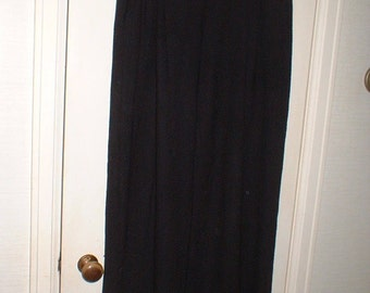 SALE Vintage GO LIGHTLY Black Wide Leg Pants Size 2 like a Medium Beautiful Drape Palazzo Like