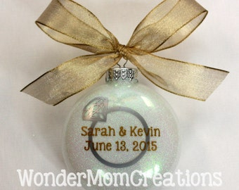 Engagement Christmas Ornament; Personalized Engagement Ornament; Just Engaged Ornament; Engagement Gift Ornament