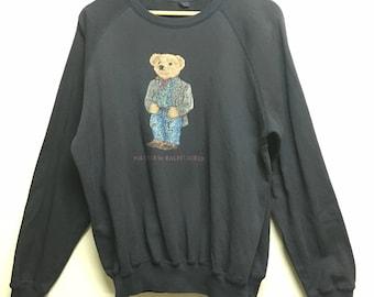Vintage Polo Bear Ralph Lauren Sweater/Sweatshirt/Hoodie