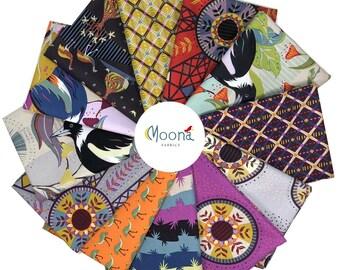 Horizons FAT QUARTER BUNDLE, Kathy Doughty, Free Spirit Fabric, Woodland Fabric, Australia Fabric, Quilt Fabric, Australian Bird, 12 FQs