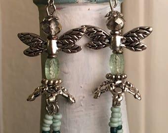 Fairy Earrings in Light Green