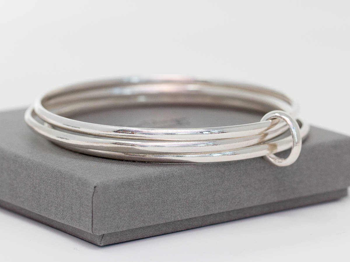 bangles plain of bangle listing minimalist fullxfull stacking sterling il three layering silver set stacker hammered bracelet