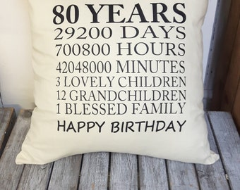 Milestone Birthday Cushion