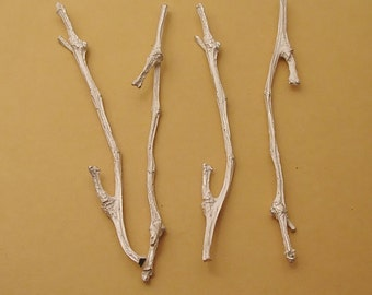 twig components cast silver twigs sterling silver twig metalsmith supply UT004-4