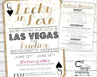 Vegas Bachelorette Invitations Etsy - Party invitation template: bachelorette party itinerary template