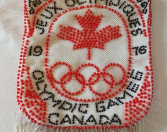 Vintage 1976 Olympic Beaded Purse
