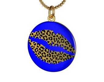 Blue Cheetah Necklace