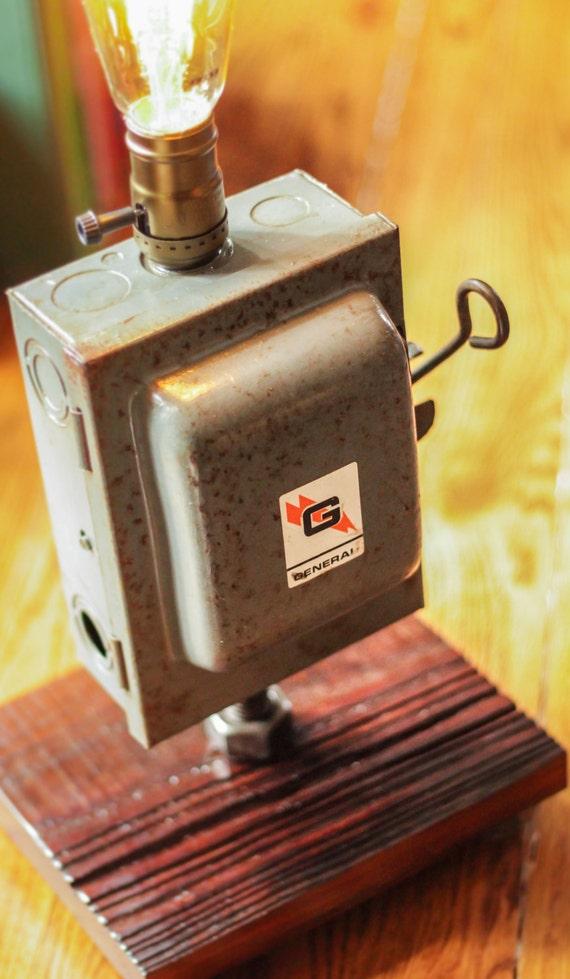 fuse box light vintage lighting rustic light edison bulb rh etsy com vintage car fuse box vintage fuse box cover