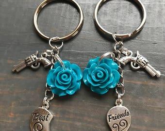 Guns N Roses Best Friend Keychain Set