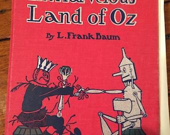 Vintage 1985 version 1904 Baum the Marvelous Land of Oz detached pages Altered Art Supply