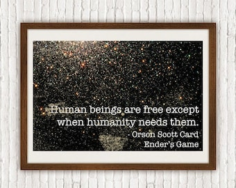 Ender's Game: 17X11 Art Print, With Heart Studios - Orson Scott Card, Classic Novels, Gift, Poster, Vintage