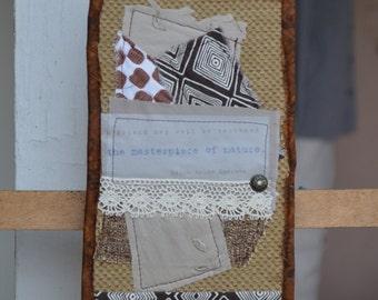 Brown Doorknob Hanging Art Quilt - Friend Masterpiece of Nature