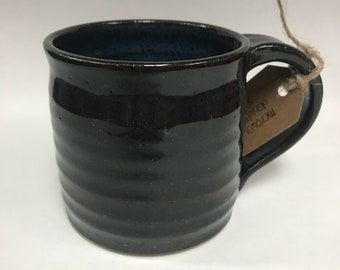 Hand Thrown Midnight Blue Mug
