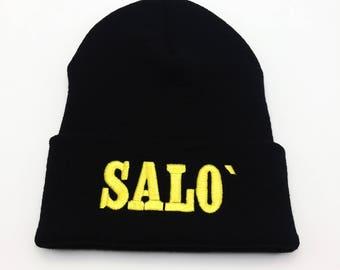 Salo Beanie 120 Days of Sodom Beanie Salo Hat 120 Days of Sodom Hat Horror Beanie Horror Hat Embroidered Beanie Apparel Custom Embroidered