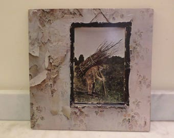 Vintage 1971 LP Vinyl Record Led Zeppelin IV (Untitled) Very Good Condition 14099