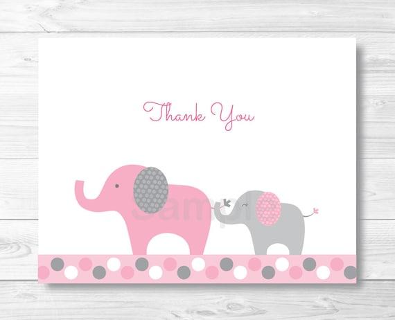 elephant thank you cards