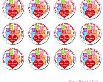 Gummy Bear Valentine's Day Classroom Stickers #443