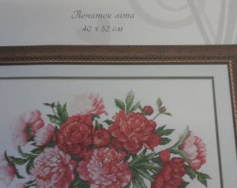 PEONY  is a 14 count cross stitch kit