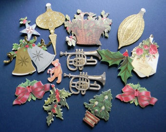 Collection of Full Color Christmas Embellishments (562)