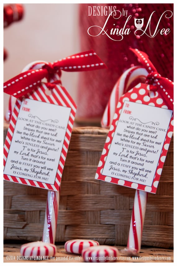 Legend of the Candy Cane - Gift Tag Card for Witnessing at ...