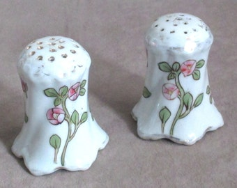 Vintage Salt & Pepper Shakers floral design
