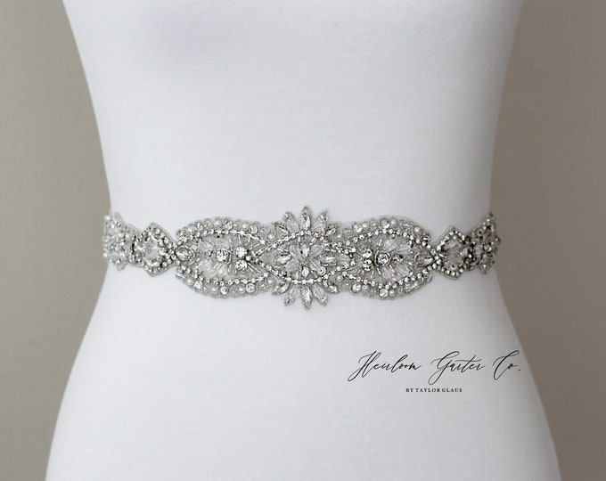 Rhinestone Bridal Belt, Bridal Sash, Beaded Bridal Sash, Wedding Belt, Wedding Sash Rhinestone Sash B32S