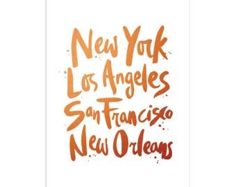 NY To NOLA Art Print