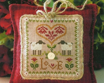 Love by Little House Needleworks Counted Cross Stitch Pattern/Chart
