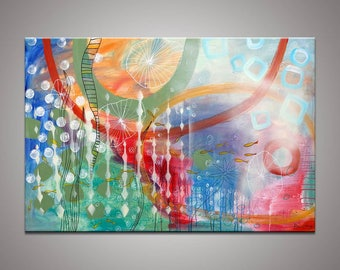 Abstract Painting, Large Oil Painting, Large Wall Decor, Original Oil Painting, Modern Art, Kitchen Wall Decor, Abstract Canvas Painting