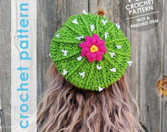 crochet pattern, crochet hat pattern, crochet cactus, cactus hat, cactus, crochet hat, winter hat, cactus pattern, slouchy hat, plant lady