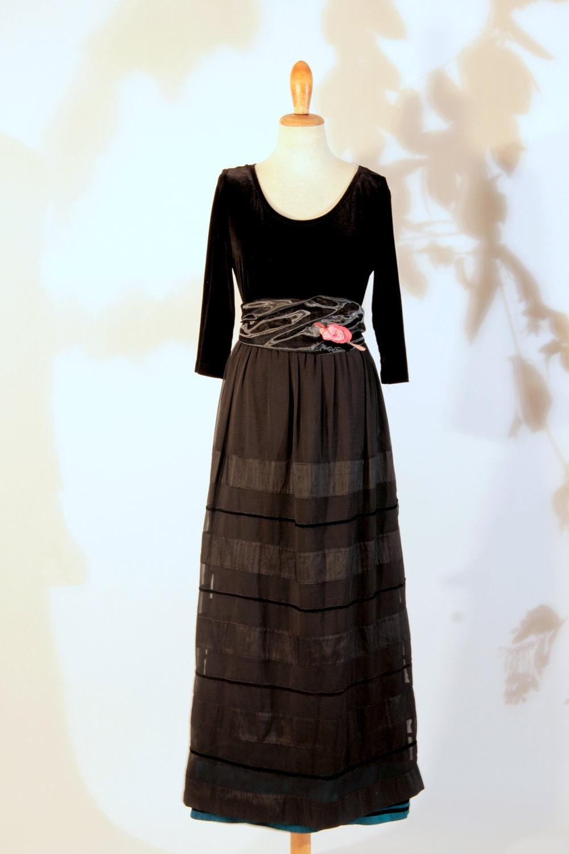 Kleine schwarze Kleid Jugendlichen Stil Shantung Organza