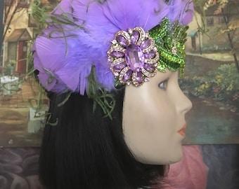 Gatsby headpiece/1920s headpiece/Flapper headpiece/Sequined  headpiece/Wedding headpiece/Rhinestone/hair accessories/Hair jewelry/Athena