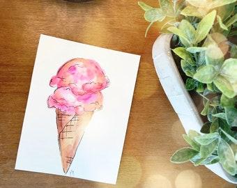 Watercolor Ice Cream