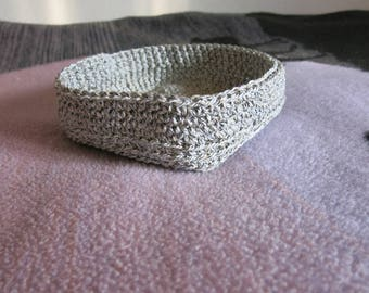 Utensilo Basket Crochet ca 21x21x6 cm/square