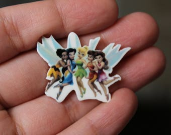Tinkerbell and Peter Pan Brooch