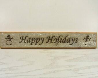Happy Holidays Barnwood Door Topper