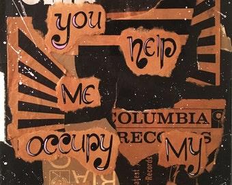 Paranoid - Black Sabbath Record Sleeve Collage