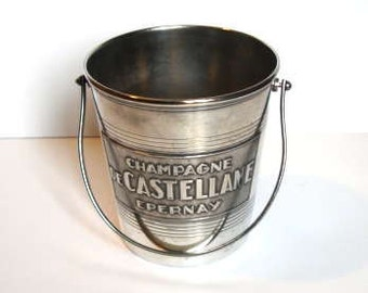 Vintage Silver Plated Ice Bucket - Champagne Castellaine