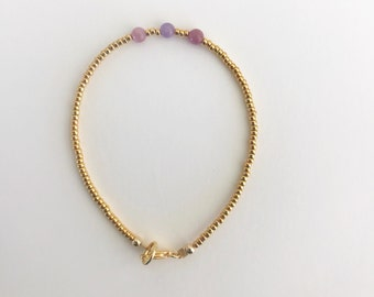 KAKOI LUXE Gemstone Collection TOURMALINE bracelet, pink tourmaline jewelry, bracelet, choker, necklace, gemstone jewelry, heart chakra