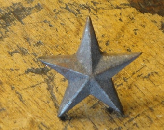Small Cast Iron Dimensional Stars Set of 6