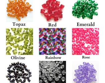 500 Acrylic 6mm Bicone Beads Jewellery Making Choose You Colour
