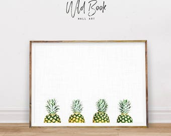 Tropical Print, Pineapple Print, Pineapple Art Poster, Pineapples Art Print, Beach Print, Summertime Poster, Tropical Poster, Digital Print