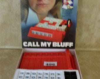 Call My Bluff Word Game Vintage 1970s : Never Played Letters still on Sprues