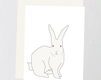 Rabbit print Greeting Card