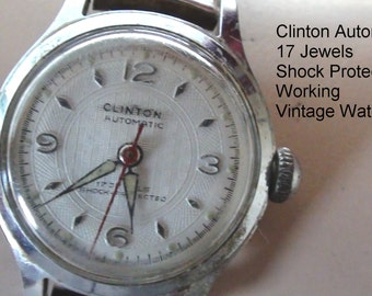 Clinton Brand Women Swiss Watch 17 Jewels Design Stretchable band Working Is Automatic - On Clearance Now!