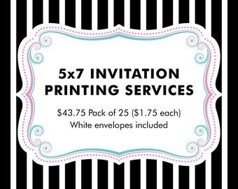 5x7 INVITATION PRINTING SERVICE