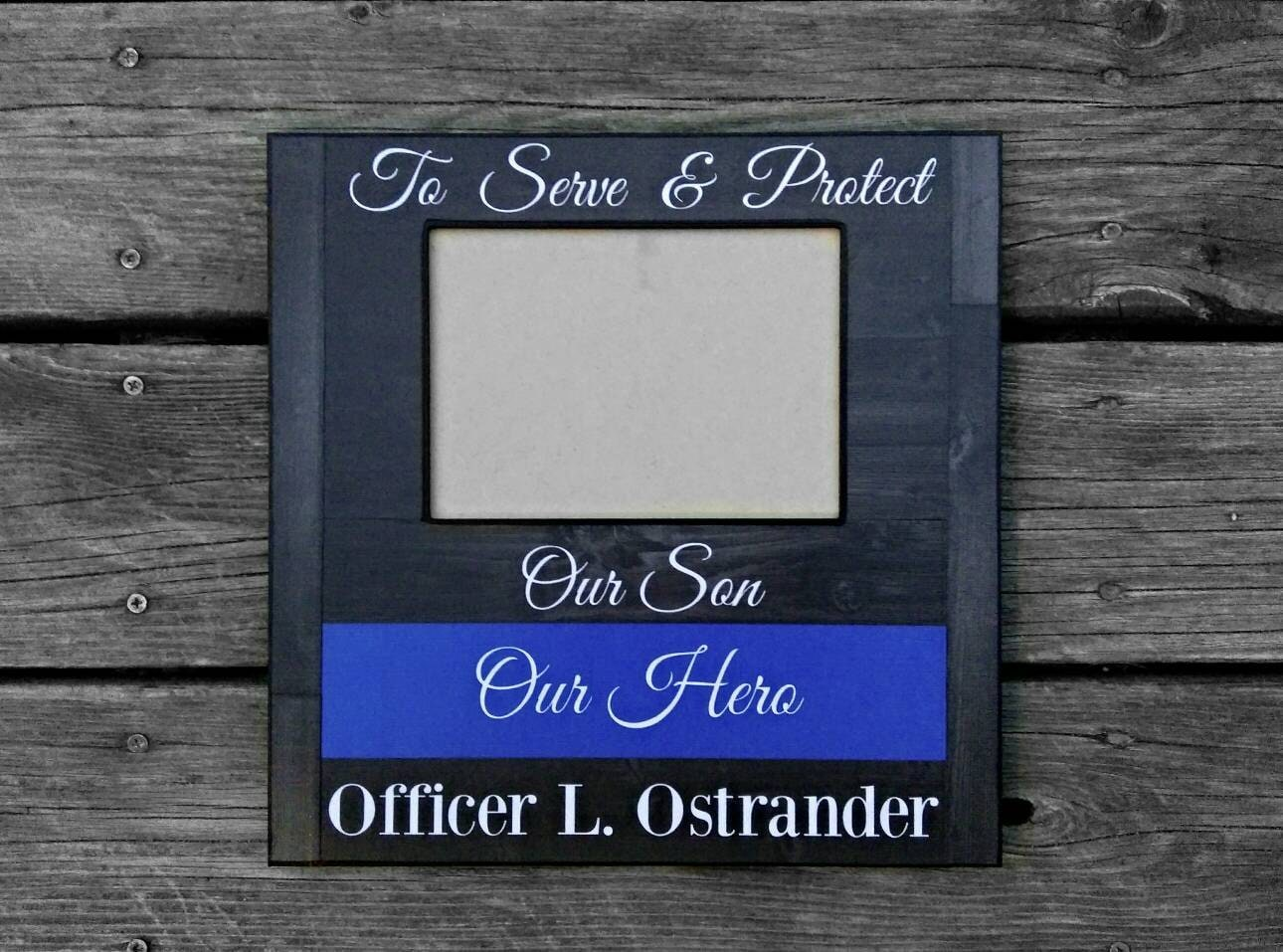 Personalized Police Officer Picture Frame Custom Police