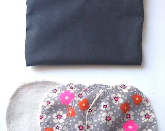Set of 4 eco-friendly pads washable with pouch