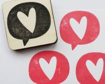 Stamp Heart Text Cloud